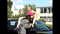 Blonde is picked up and screwed
