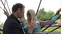 Sexy blonde Blanche Bradbury gets her wet pussy... thumb