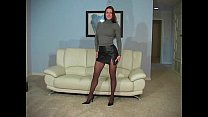 Victoria Red Teases in Black Pantyhose - Part 1