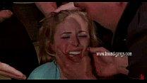 blonde gets her face slapped