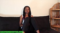 Ebony teen from the projects sucks huge hard dick