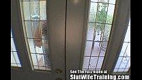 Chel Gets Slut Wife Training Cum Swallowing Les...