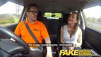 Fake Driving School Advanced horny lesson in sweaty messy creampie porn videos
