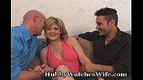 Wife Is So Happy To Have Hubby Watch Her Fuck A...