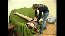 Flexible doll gets dildo hard