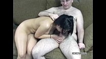latina cristal blowing an old geek she just met