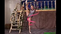Flexible gymnast gets hard sex