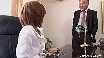 Asian slut getting fucked by her boss politely