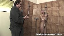 shower the in stepdaughter blonde fucks dad Lucky