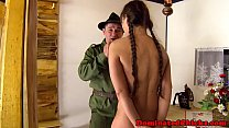 Smalltit teen tormented by rough soldier porn videos