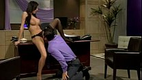 Busty brunette boss rides her employee's big cock (NAME PLEASE) - download porn videos
