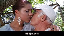 Big dick oldman fucks his much younger sexy gir...