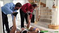 sexy yoga friends audrey royal and kara faux swap dads to fuck