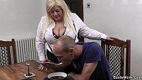 stockings in secretary blonde busty fucks Boss