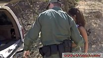 Cops come Horny border patrol fucks Latin woman Loni Legend in the