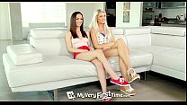 myveryfirsttime   ashlee mae and lily jordan first threesome