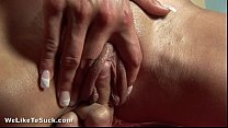 cumshot sticky a to way her sucks slut Horny