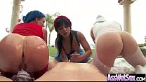 Round Wet Luscious Butt Girl Take It Deep In As...
