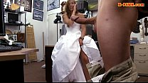 Bride to be pawns her wedding dress and nailed ...