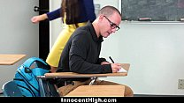 InnocentHigh - Hot MILF Teacher Fucks Student thumbnail