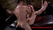 Bondage bdsm fetish tied up babe facialized - download porn videos