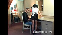 Amateur french maid analyzed with cum 2 mouth thumb