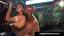 BBW Angelina Castro Sucks Nat Turnher's BBC In ...