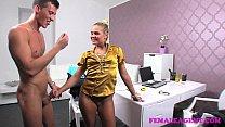 femaleagent nervous inexperienced stud versus horny milf agent