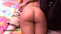 Mom gives in and gets spanked over his knee