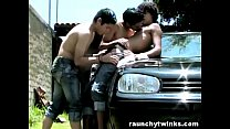 latino twinks hot sunny outdoor threesome sex – Free Porn Video