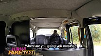 Female Fake Taxi Naughty cab driving chick fucks big black cock in countryside