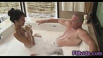 Asa Akira plays with cock