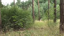 forest the in banged teen German