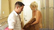 Busty Blonde Milf Gets Fucked In The Bathroom (...