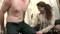 Amateur french couple first time anal casting c...