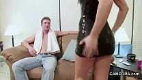 Young Step-Mom Seduce Step-Son to fuck when Dad...