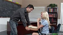 blonde schoolgirl Elaine fucking her prof in th...