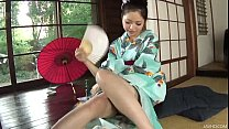 Kinky Hana uses a bottle to toy her pussy until she is soaking wet porn videos