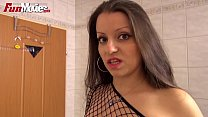FUN MOVIES Busty German amateur washing up befo...