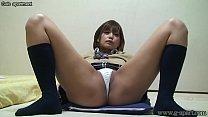 japanese schoolgirl hikaru open wide leg panties