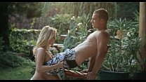Hot blonde Leony April outdoor fuck