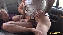 skanky blonde slut chick trades sex for cash and free ride