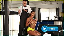 BANGBROS - Young Ebony Pornstar Makes Her Butle... thumb