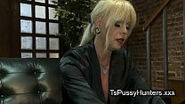 busty tranny dick sucked at blind date