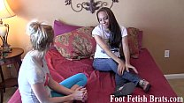 Worshiping her feet for free yoga lessons
