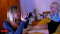 Shooting a hot blonde slut getting banged by a ...