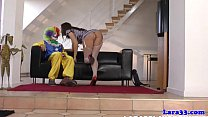 saucy mature british tart penetrated by a clown