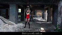 Young slaves harsh fingering, ass spanking at t...