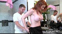 cock hard by stretched vagina tight gets belle rainia redhead Stunning