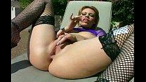 Gia Paloma in black fishnet